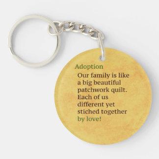 Porte-clés L'adoption est un patchwork