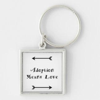 Porte-clés L'adoption signifie que l'amour - adoptif -