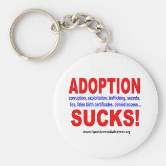 Porte-clés L'adoption suce !