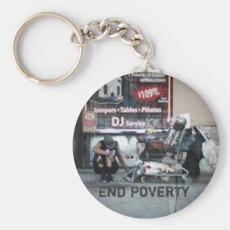 Porte-clés Laisse le porte - clé de pauvreté de fin