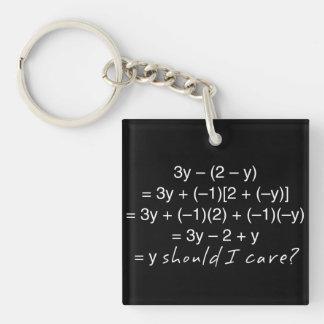 Porte-clés L'algèbre pourquoi devrait humour de soin d'I
