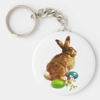 Porte-clés Lapin de Pâques vintage. Porte - clé de cadeau de