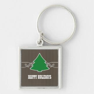 Porte-clés L'arbre de Noël de fantaisie tourbillonne porte -