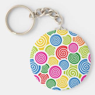 Porte-clés L'arc-en-ciel se développe en spirales porte - clé