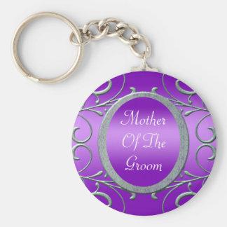 Porte-clés L'argent métallique Romance pourpre met en rouleau