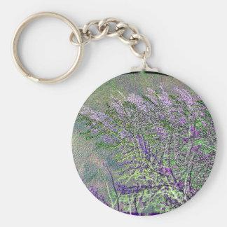 Porte-clés L'argent sauvage exotique plante V1