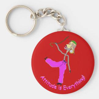 Porte-clés L'attitude est Tout-Danse avec des cannes