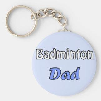 Porte-clés Le badminton Dad