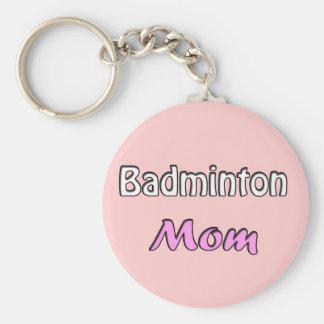 Porte-clés Le badminton Mom