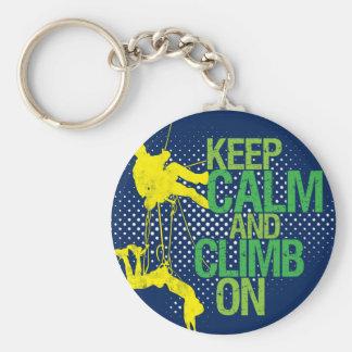 Porte-clés Le bleu gardent le calme et s'élèvent sur le porte