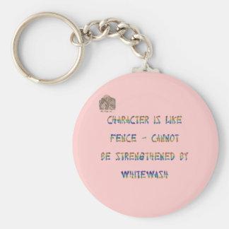 Porte-clés Le caractère est comme la barrière - ne peut pas