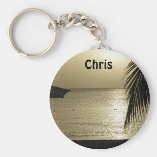 Porte-clés Le coucher du soleil ajoutent votre porte - clé