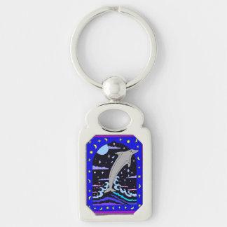 """Porte-clés Le dauphin """"saut pour les étoiles"""" Metal le porte"""