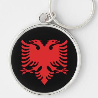 Porte-clés Le double albanais de drapeau a dirigé Eagle en