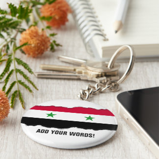 Porte-clés Le drapeau de la Syrie