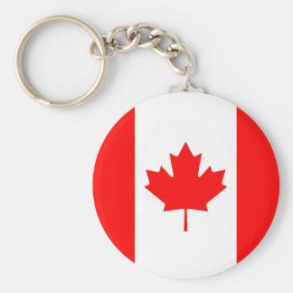 Porte-clés Le drapeau du drapeau canadien de feuille d'érable