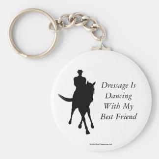 Porte-clés Le dressage danse le porte - clé de cheval de