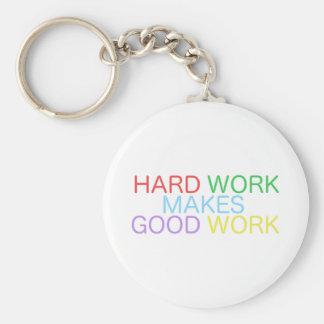 Porte-clés Le dur labeur fait le bon travail