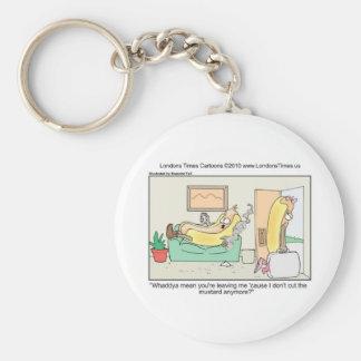 Porte-clés Le hot-dog divorce les tasses et les cadeaux