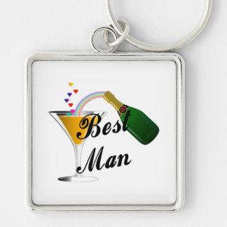 Porte-clés Le meilleur pain grillé de Champagne d'homme