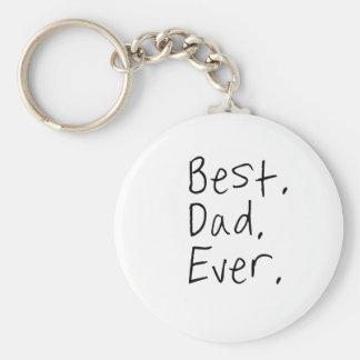 Porte-clés Le meilleur papa jamais. Cadeau de fête des pères