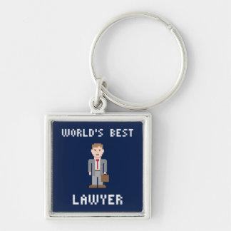 Porte-clés Le meilleur porte - clé d'avocat de pixel