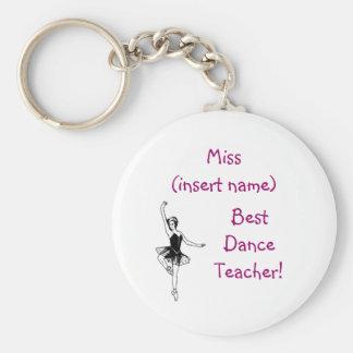 Porte-clés Le meilleur professeur de danse ! - porte - clé