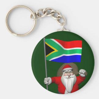 Porte-clés Le père noël avec le drapeau de l'Afrique du Sud