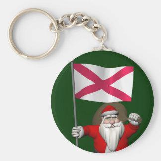 Porte-clés Le père noël avec le drapeau de l'Irlande du Nord