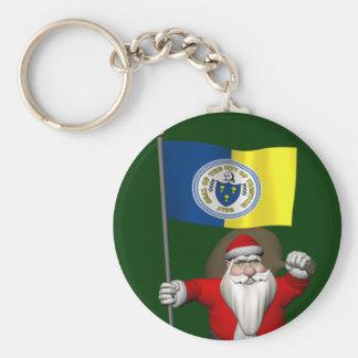 Porte-clés Le père noël avec le drapeau de Trenton NJ