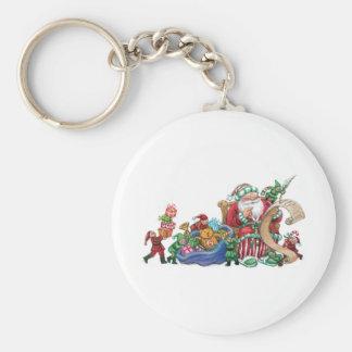 Porte-clés Le père noël, elfes et porte - clé de Noël de