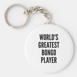 Porte-clés Le plus grand joueur de bongo des mondes