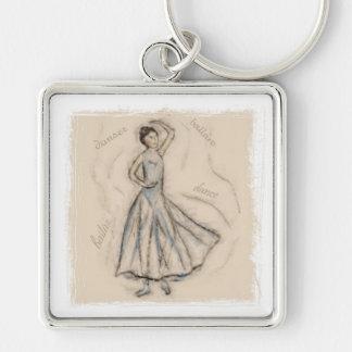 Porte-clés Le porte - clé de dessin de craie de danseur