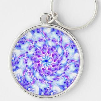 Porte-clés Le pourpre fleurit le mandala