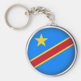 Porte-clés Le République démocratique du Congo rond