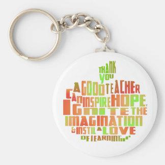 Porte-clés Le souvenir Apple de cadeau de professeur citent