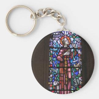 Porte-clés Le St Francis du verre souillé d'Assisi