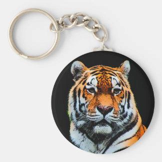 Porte-clés Le tigre observe inspiré