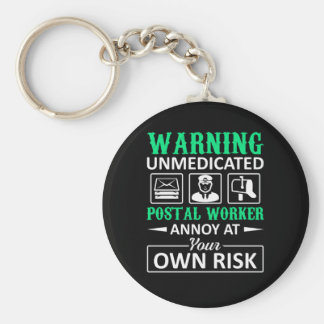 Porte-clés Le travailleur postal non médical ennuient pour