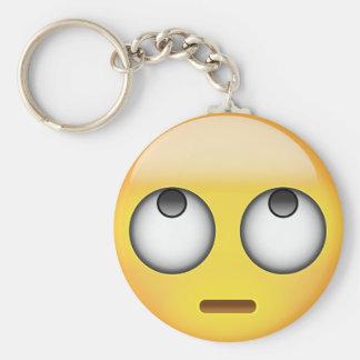 Porte-clés Le visage avec le roulement observe Emoji