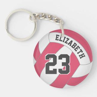 Porte-clés le volleyball des femmes son nom toute étiquette
