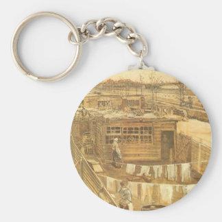 Porte-clés Le yard et la blanchisserie du charpentier par