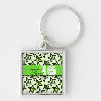 Porte-clés Le zèbre vert tient le premier rôle le bonbon