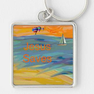 Porte-clés L'église curative Jésus d'espoir sauve le porte -