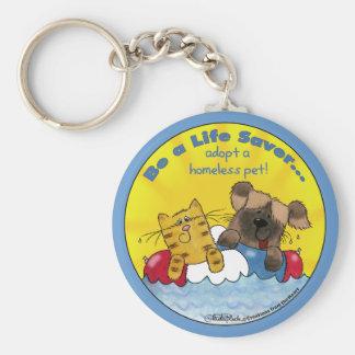 Porte-clés L'épargnant de vie adoptent les animaux familiers
