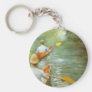 Porte-clés Les canoës, Perissoires par Gustave Caillebotte