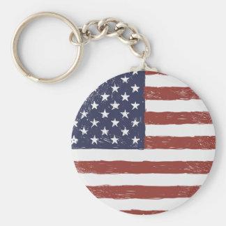 """Porte-clés Les Etats-Unis 2,25"""" porte - clé de base de bouton"""