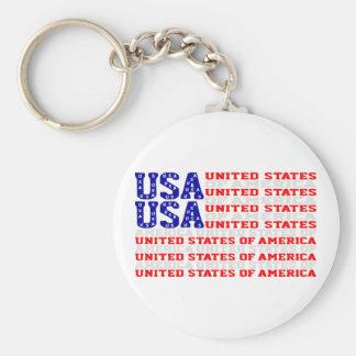 Porte-clés Les Etats-Unis - Bannière étoilée