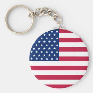 Porte-clés Les Etats-Unis marquent des étoiles des rayures