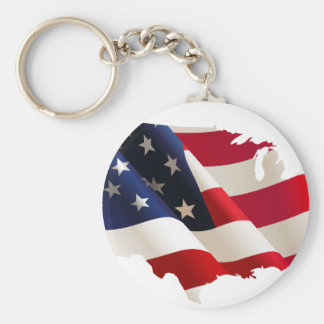 Porte-clés Les Etats-Unis ondulent le drapeau